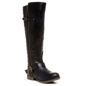 Steve Madden Quiana Quilted Riding Boot
